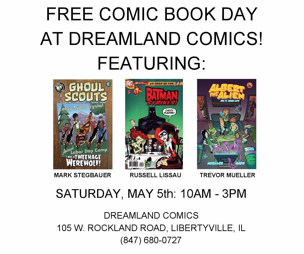 Free Comic Book Day May 2018: Dreamland Comics